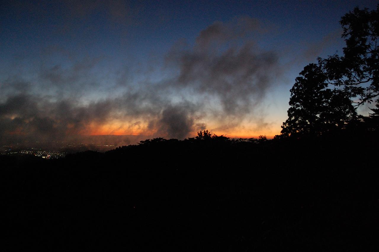 magic hour after sunset