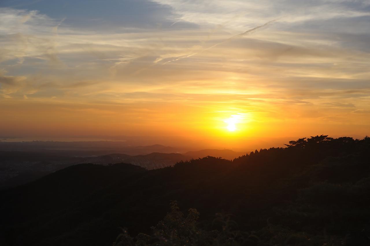 夕空1 摩耶山から